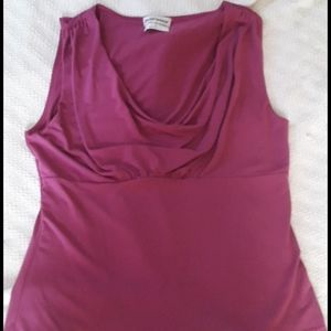 Mauve colored short sleeve top